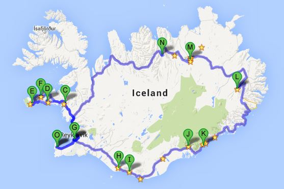 Ring road iceland road trip this was our main driving route i starredsaved the things that i wanted to see on google maps just a note the mapping of iceland on google maps isnt gumiabroncs Gallery